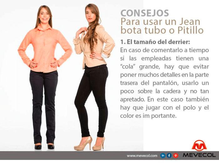 Consejos para usar un Jean bota tubo o Pitillo