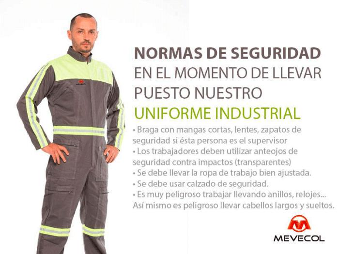 Normas de seguridad en el momento de llevar puesto nuestro Uniforme industrial