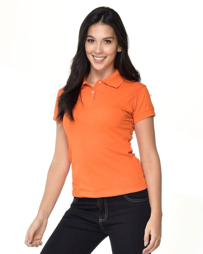camisa naranjada tipo polo dama p26-2