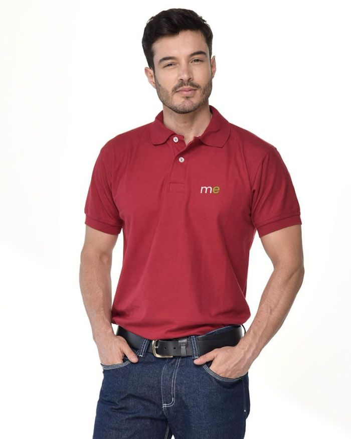 camisa tipo polo vino tinto de hombre p9-2