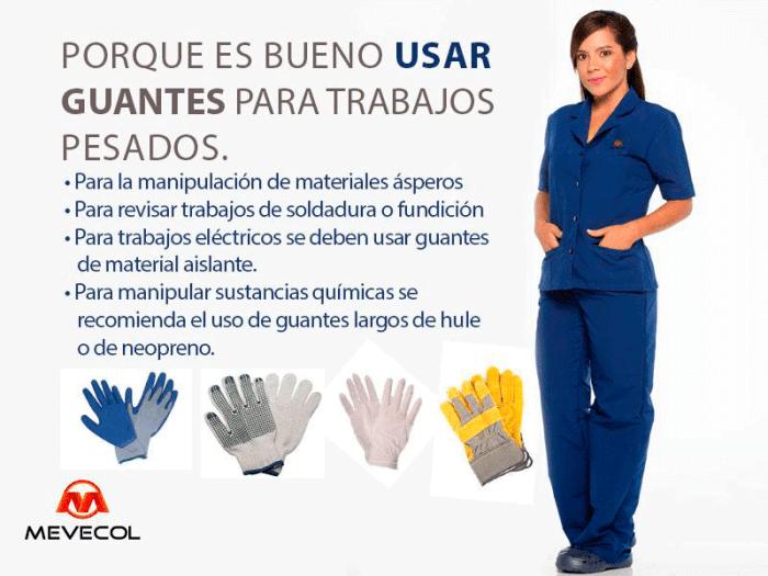 Porque es bueno usar guantes para trabajos pesados