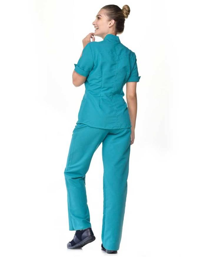 uniforme azul agua marina antifluido s17-4