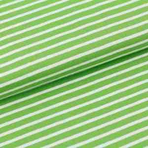 Stoffonkel streepjes tricot groen wit