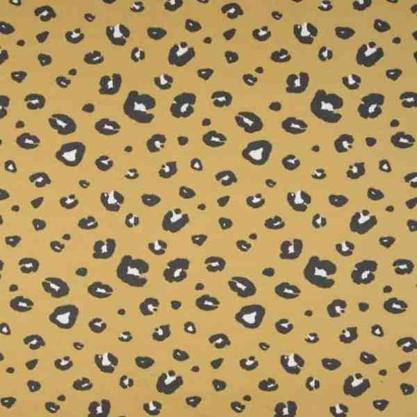 Qjutie Kids - Panter print groot - Oker OR5503 283A Aangepast