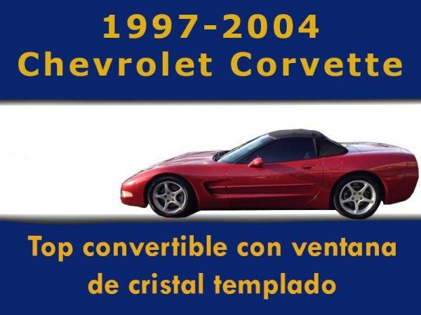 Capota Con Medallon De Cristal Templado Corvette C5
