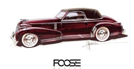 Chip Foose está dando vida a un boceto de Cadillac 1935