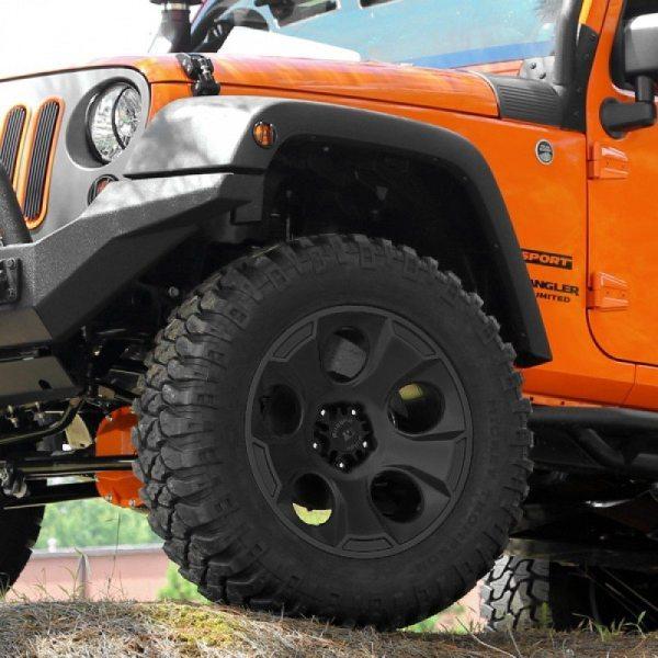 """Rin Rugged Ridge 17"""" x 9"""" Drakon + Llanta Mickey Thompson 33"""" Baja ATZ P3 Para Jeep Wrangler JK"""