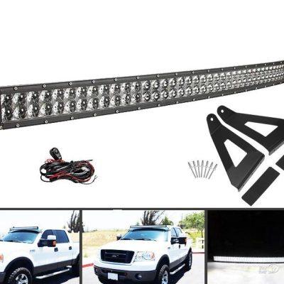 "Barra Con Luces LED Curva De 54"" + Soportes De Montaje Para Ford F-150"