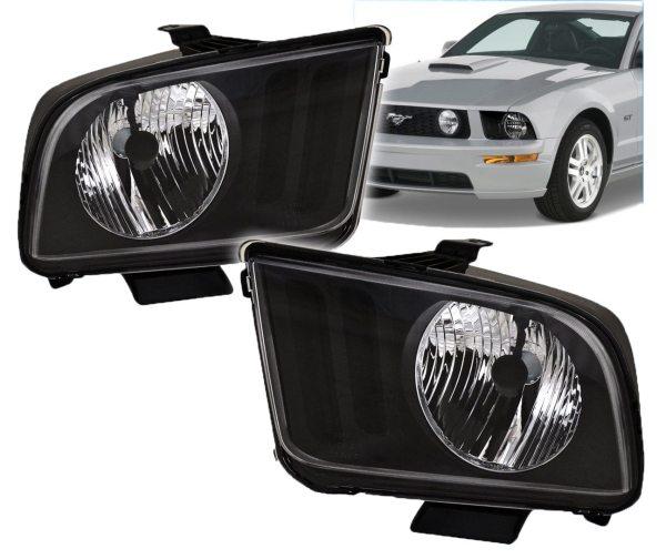 Faros Negros Para Ford Mustang