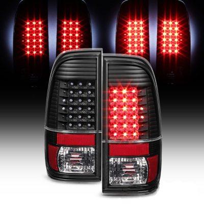 Calaveras LED Negras Para Ford F150 F250 F350 F450 Super Duty