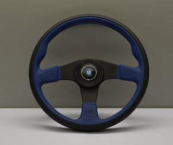 Volante Nardi Twin Line 350 mm De Piel Negro Con Azul Universal