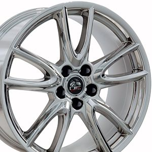 Rines Progresivos 19x9 y 19x10 Cromados Ford Mustang 2005-2016