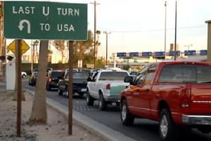 Calexico border crossing into Mexicali