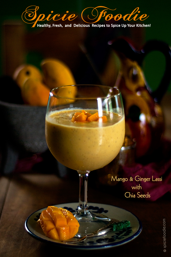 Mango and Chia Seed Lassi | #smoothie #lassidrink #chiaseeds #Indiandrinks