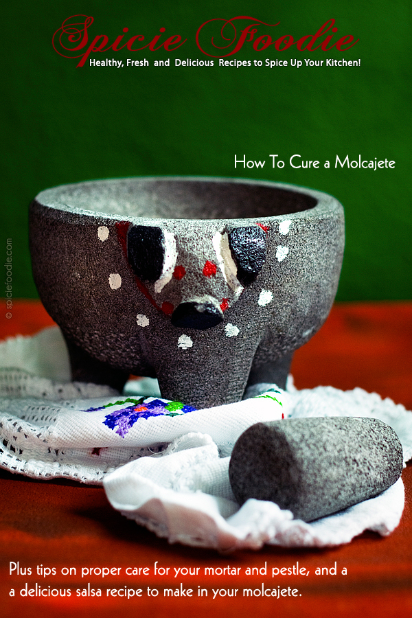 How to Cure a #Molcajete | #MortarAndPestle #Kitchentips #Mexican #howto