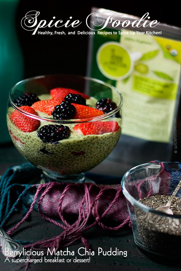Berrylicious #Matcha #Chia Pudding | #vegan #raw
