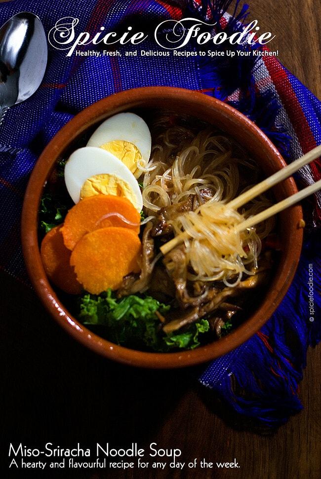 Miso-Sriracha Noodle Soup