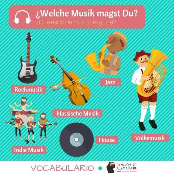 vocabulario en alemán - género musical