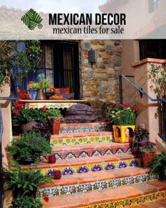 Mexican Tiles Handmade and Hand Painted San Diego California Mexican Talavera Tiles Patio