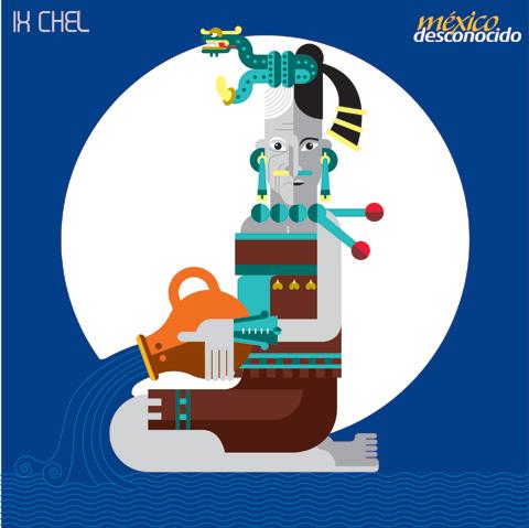 Ixchel, diosa maya de la Luna / Ilustración: Oldemar