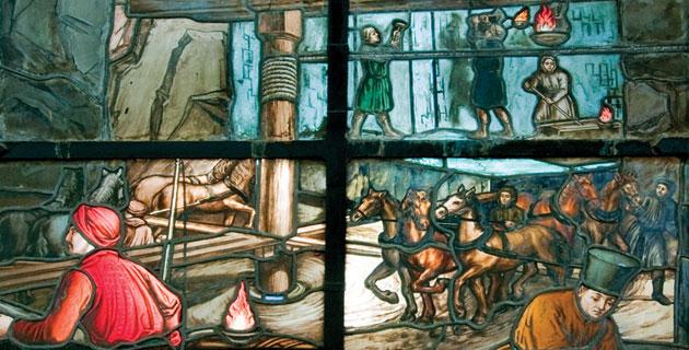 Detalle vitral Museo de Geología