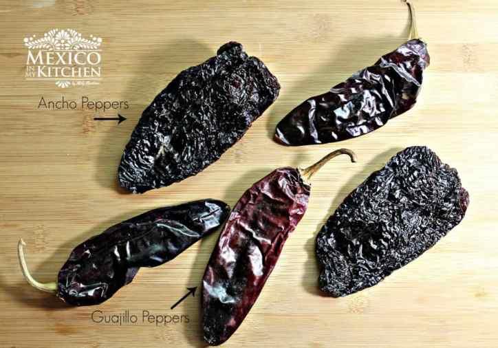 Chiles que se utilizan en esta receta de Como hacer pozole rojo