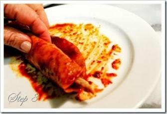envuelve la tortilla, enchiladas rojas
