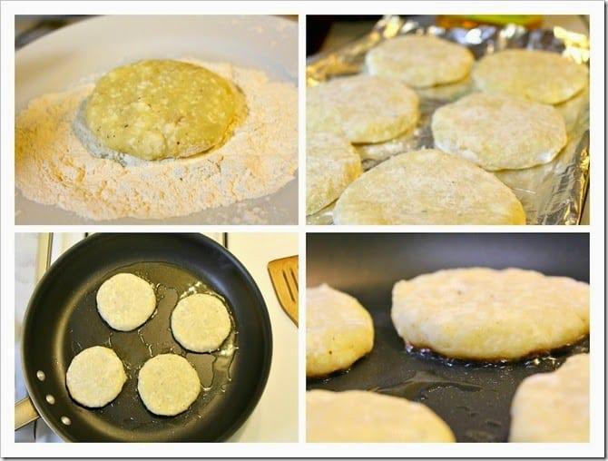 Receta de tortitas de papa con queso, paso a paso