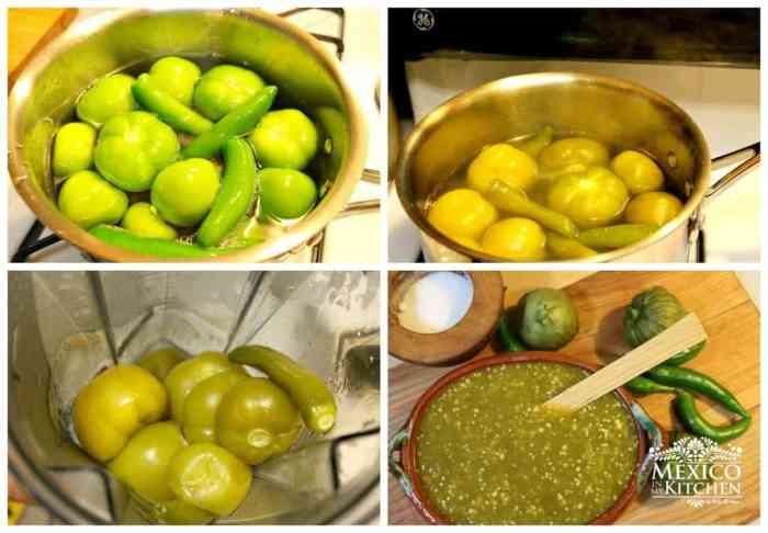 Receta de salsa verde, instrucciones paso a paso