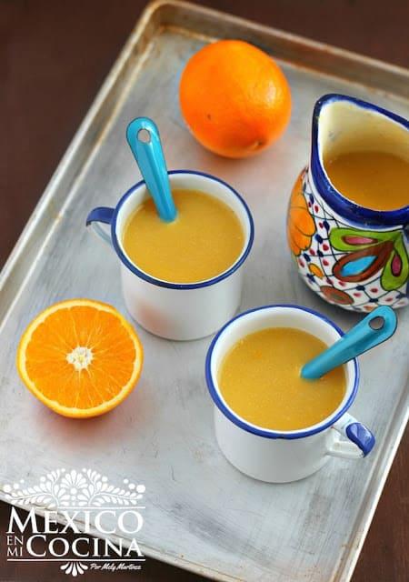 Receta de Atole de Naranja
