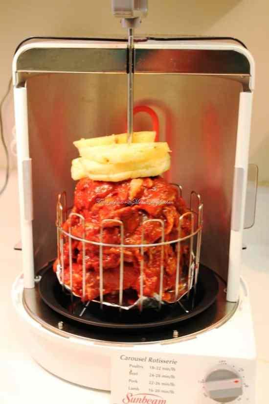 Receta de tacos al pastor, horno vertical