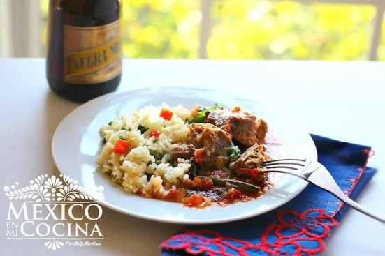 disfruta con tu familia esta receta de cerdo al jitomate