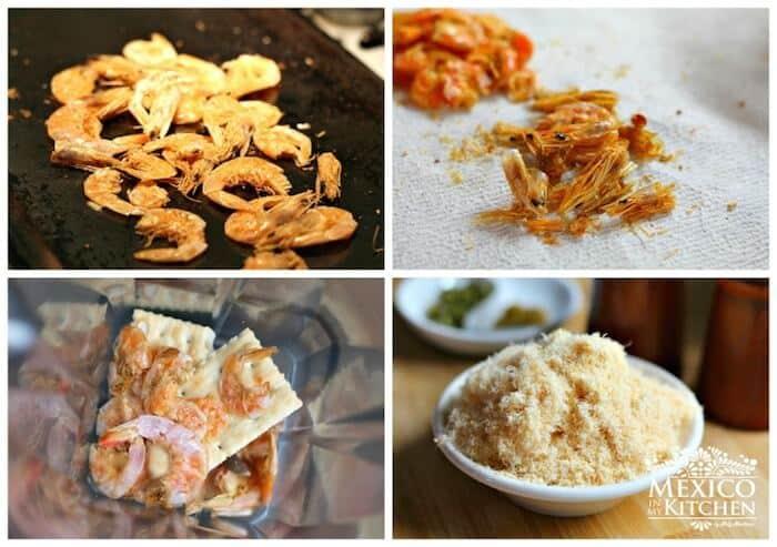 Instrucciones paso a paso para preparar este deliciosa receta de Camarones secos