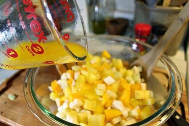 Gazpacho de frutas estilo Michoacán