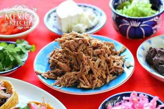 Carne desmenuzada para tacos y otras recetas