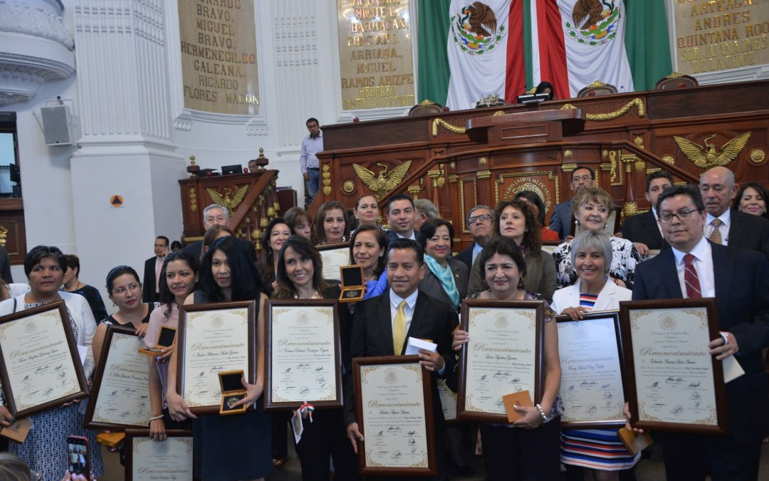 Congreso de CDMX galardona a 35 docentes