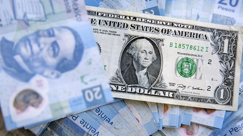 Dólar  se vende en 19.39 pesos en bancos