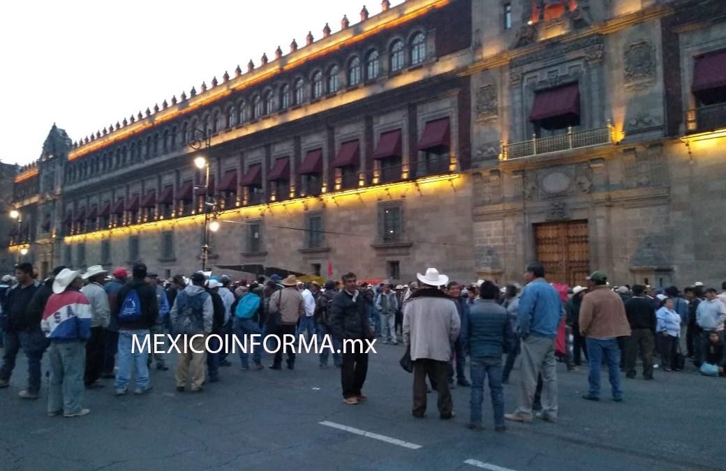 Desde las 6:00 hrs campesinos se apostaron frente a Palacio Nacional