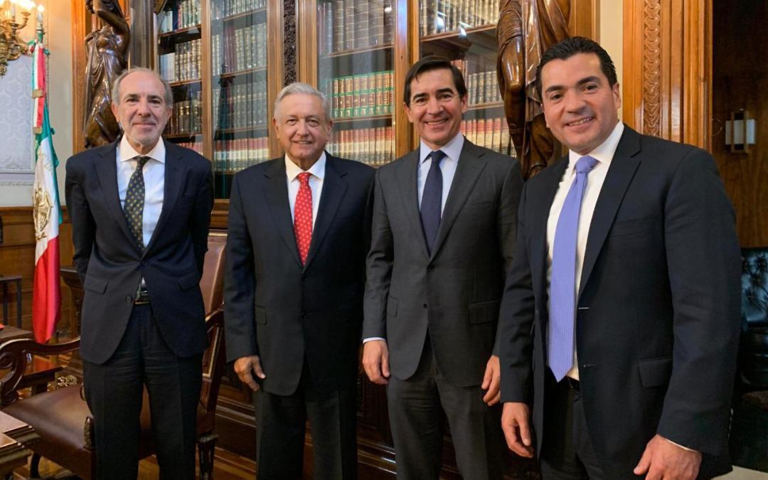 Se reúne AMLO con directivos del Grupo BBVA Bancomer