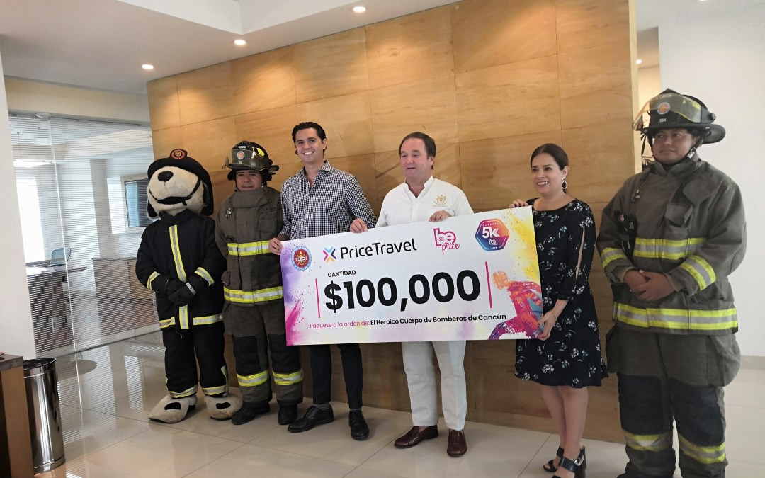 Otorga Pricetravel donativo a bomberos de Cancún