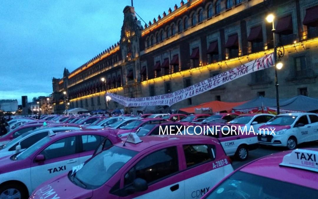 Fuera UBER y apps exigen taxistas en CDMX