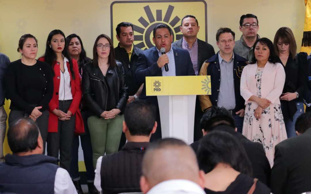 PRD exige a MORENA deje de agandallarse presupuesto de municipios