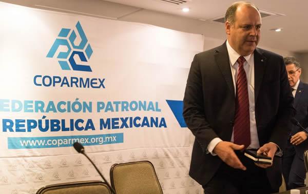 Lamenta Coparmex que PEF no diera importancia a inversión en proyectos productivos