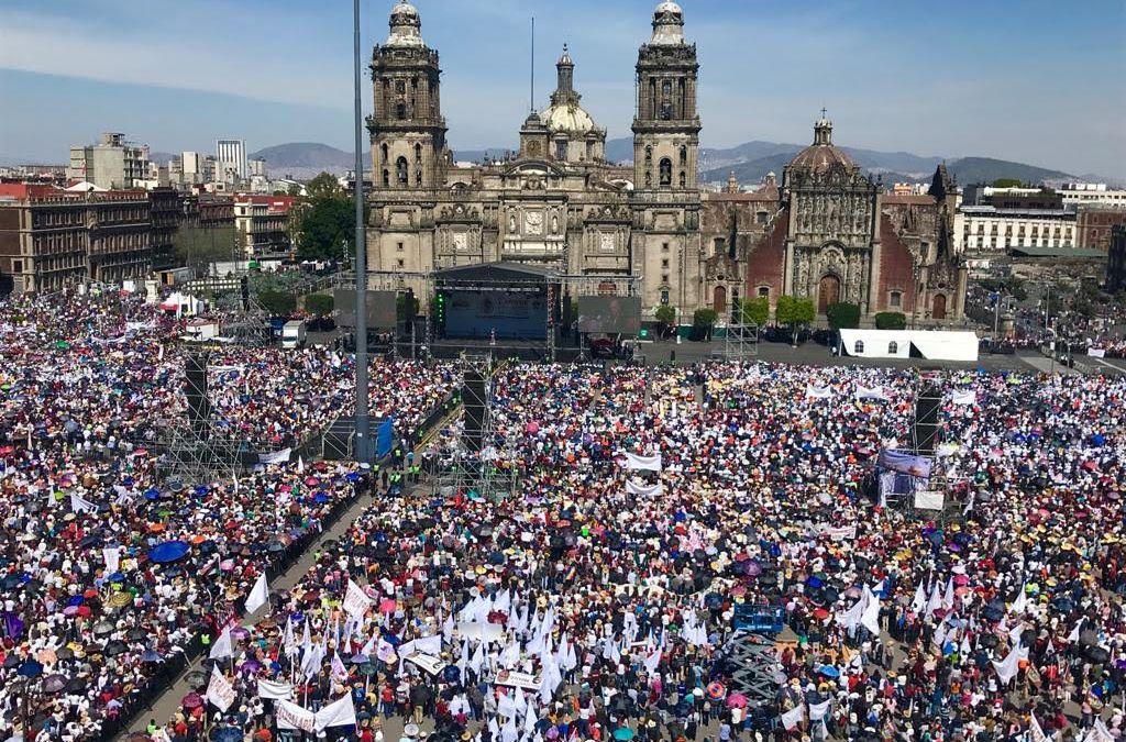 Celebra AMLO su primer año en el Zócalo