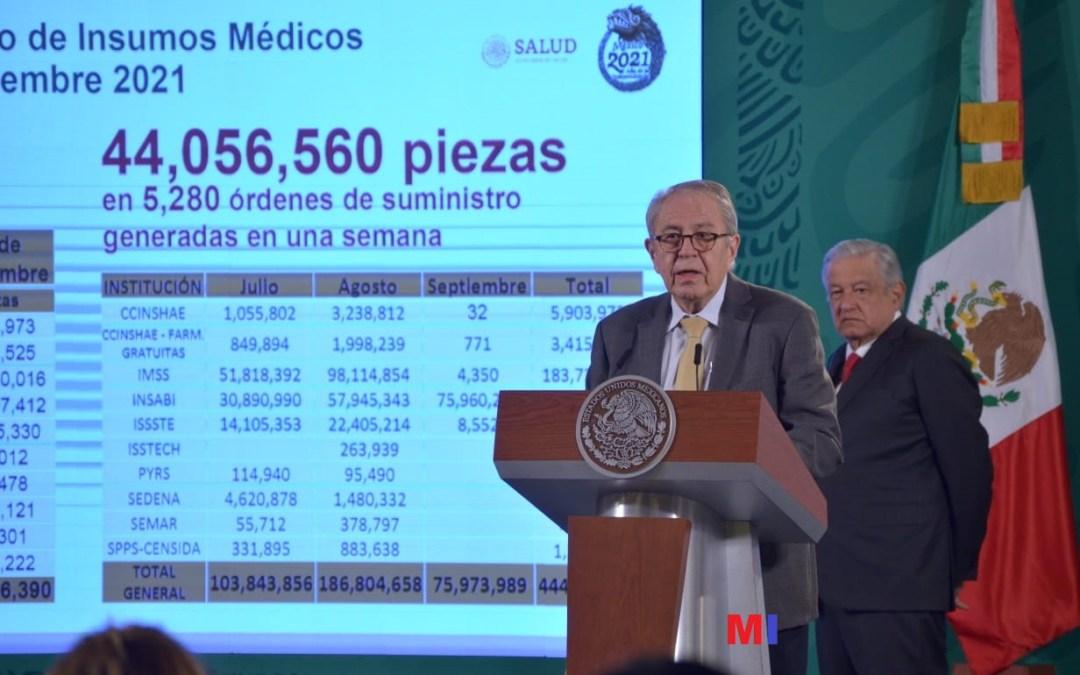 La meta es recibir  en diciembre 444 millones de medicamentos: Alcocer