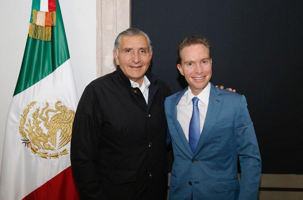 Manuel Velasco y Adán Augusto se reúnen para tratar reformas