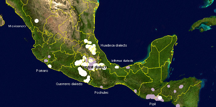 Language Map Spoken Mexico