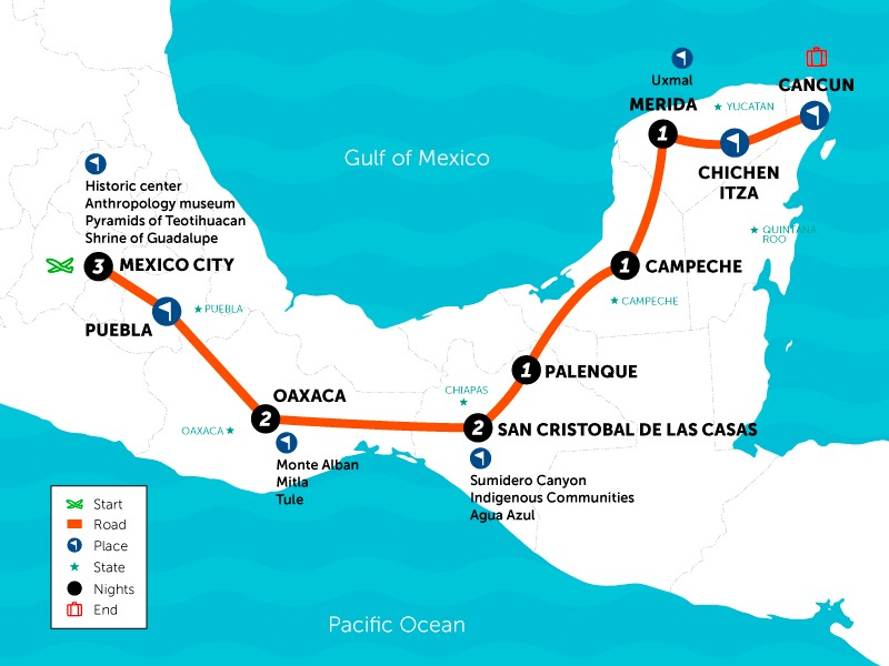 SAT Mexico Tours viva mexico 11 days
