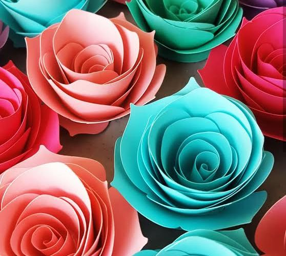 Home Decor with Paper Flowers