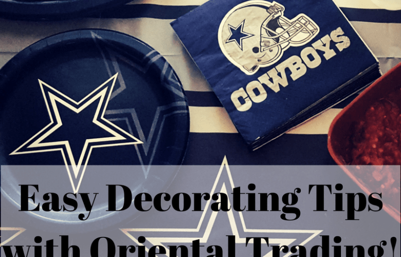 Easy Decorating Tips with Oriental Trading!